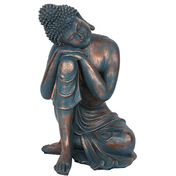 Blue Hands on Knee Buddha
