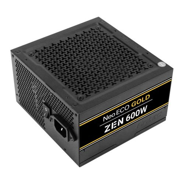 Antec 600W NeoECO Gold ZEN PSU Fully Wired LLC Design 80+ Gold Cont Power UK Plug