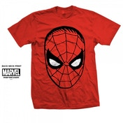 Marvel Comics Spider-Man Big Head Mens Red T Shirt XX Large