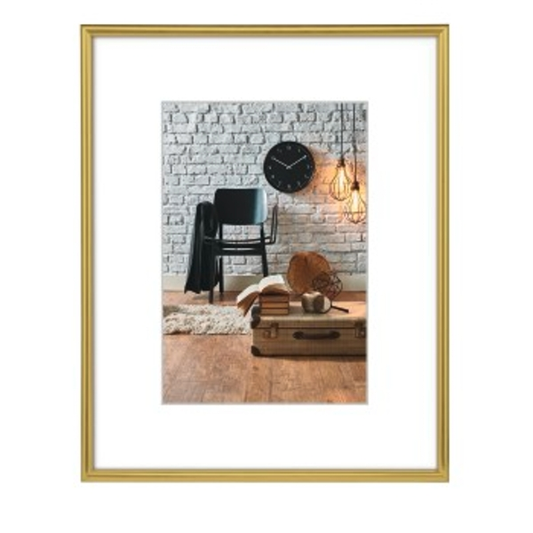 Hama Sevilla Picture Frame 20x 30cm with Mat 13x 18cm, High Quality Glass, Plastic Frame, ready to hang