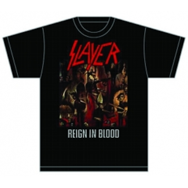 Slayer Reign in Blood Mens T Shirt: Large