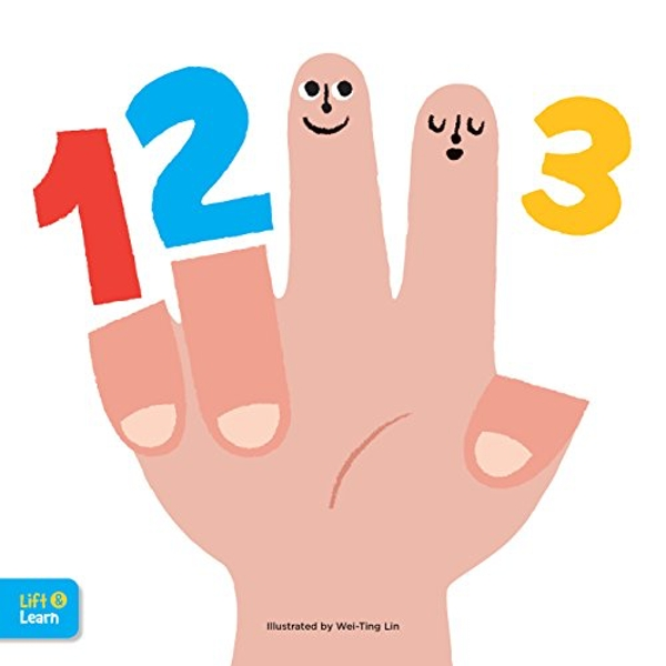 123 Lift & Learn Interactive flaps reveal basic concepts for toddlers Board book 2018