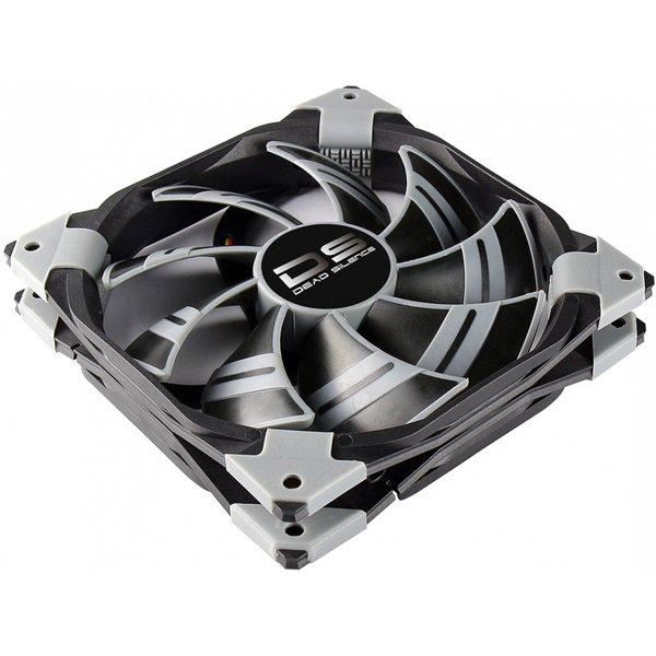 Aerocool Dead Silence 12cm Black Fan Dual Material/Colour FDB Fan 12.1dBA
