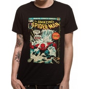 Spider-man - Comic Cover Men's Medium T-Shirt - Black