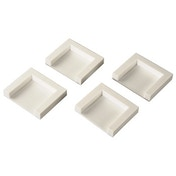 Xavax Dryer Fixing Plates for Adhesion, set of 4