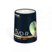 TDK 100PK 4.7GB 16X DVD-R Spindle - T19479