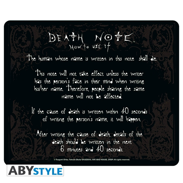 Image of Death-Note - Rules Mouse Mat