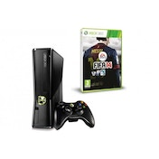 250GB Slim Console in Black + FIFA 14 + Arkham City GOTY + Arkham Department of Corrections Grey T-Shirt Xbox 360