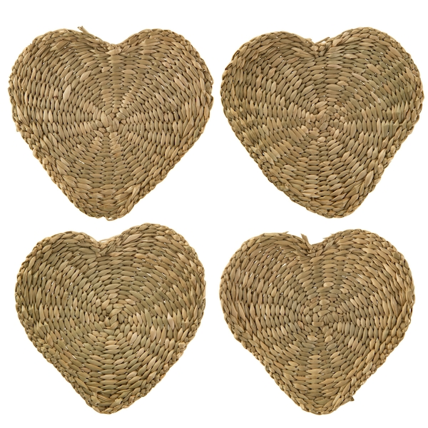 Sass & Belle (Set of 4) Heart Seagrass Coasters