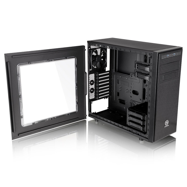 Thermaltake Versa H34 Tower Case with Side Window Black  - Image 2