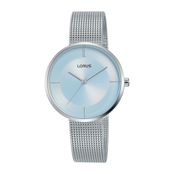 Lorus RG255QX9 Ladies Large Slim Dial Dress Watch with a Stainless Steel Mesh Bracelet