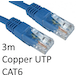 RJ45 (M) to RJ45 (M) CAT6 3m Blue OEM Moulded Boot Copper UTP Network Cable - Image 2
