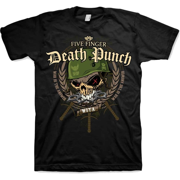 Five Finger Death Punch - War Head Unisex Small T-Shirt - Black