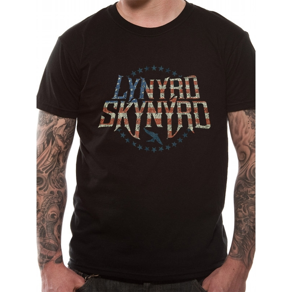 Lynyrd Skynyrd - Stars And Stripes Small T-Shirt - Black