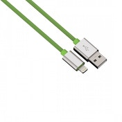 Hama Color Line Charging/Sync Cable (Green) Lightning Aluminium 1m