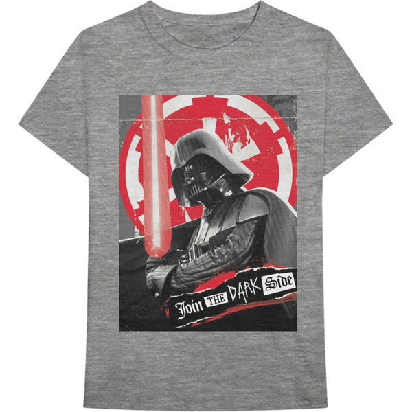 Star Wars - Darth Rock Three Men's Large T-Shirt - Grey