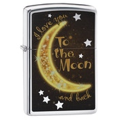 Zippo Golden Moon High Polish Chrome Regular Lighter