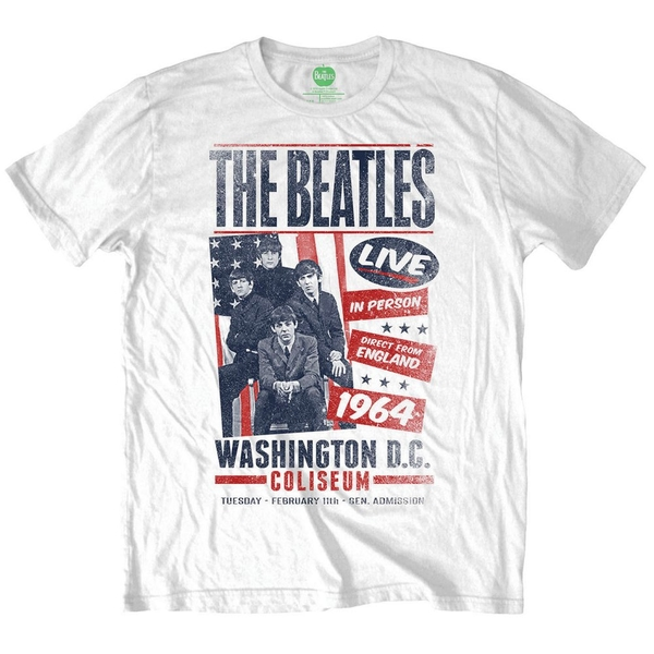 The Beatles - Coliseum Poster Unisex Large T-Shirt - White