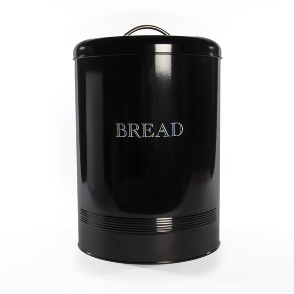 Bread Bin Crock Storage Canister Jar | M&W Black