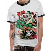 Suicide Squad - Grafitti Joker Men's Large T-Shirt - White
