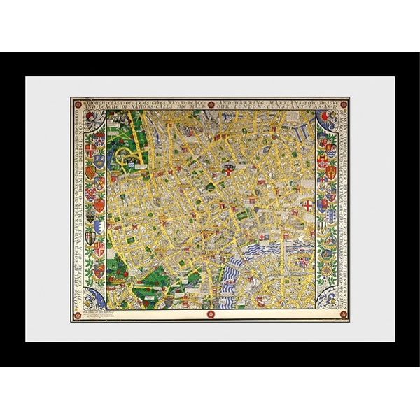 Transport For London Map 60 x 80 Framed Collector Print