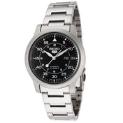Seiko 5 SNK809K1 Mens Automatic Watch Black Dial with Stainless Steel Belt
