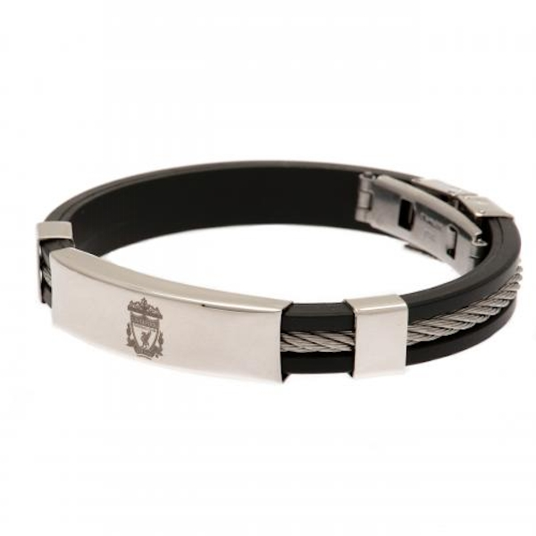 Liverpool FC Silver Inlay Silicone Bracelet