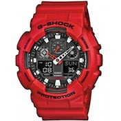 Casio GA100B/4A G-SHOCK Men's Quartz Watch - Red