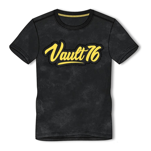 Fallout - Vault 76 Logo Oil Washed Men's Medium T-Shirt - Black
