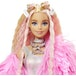 Barbie - Extra Doll in Pink Fluffy Coat with Unicorn-Pig Toy - Image 2