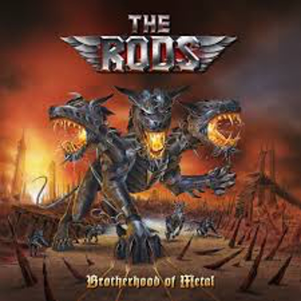 The Rods ‎– Brotherhood Of Metal Red with Black Marble Vinyl