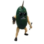 Axe Cop 4'' Scale Action Figure Avocado Soldier with flute, machine gun, removable unicorn horn