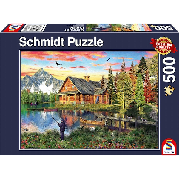 Fishing at the lake Jigsaw Puzzle (500 Pieces)