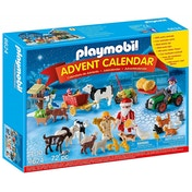 Playmobil Christmas on The Farm Advent Calendar With Santa