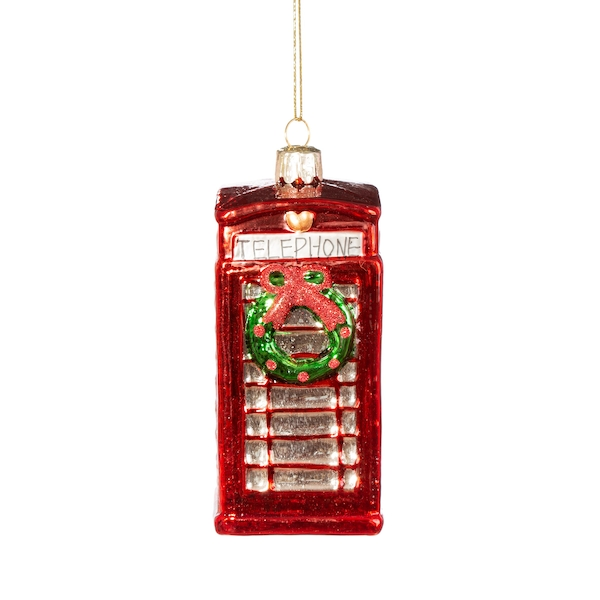 Sass & Belle Phone Box with Wreath Shaped Bauble