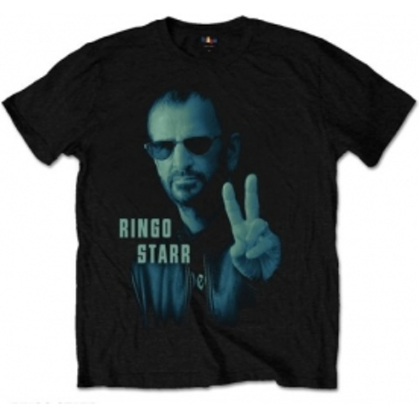 Ringo Star Colour Peace Mens Black T Shirt: Medium