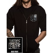 Justice League Movie - Logo Men's Small Zipped Hoodie - Black