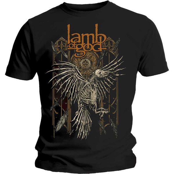Lamb Of God - Crow Unisex Small T-Shirt - Black
