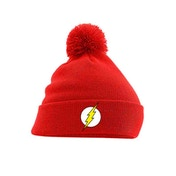 The Flash - Logo Pom Beanie Red