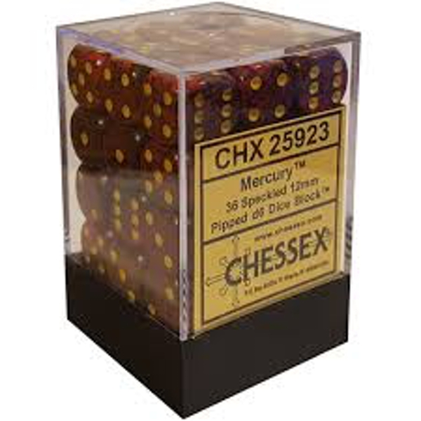 Chessex Speckled D6 Set of 36 : Mercury