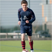 Precision Marseille Shirt & Short Set 26-28 Navy/Red