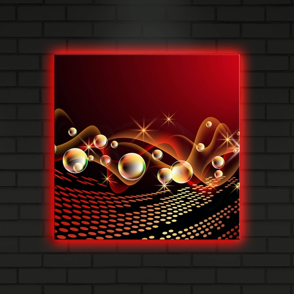 4040DACT-1 Multicolor Decorative Led Lighted Canvas Painting