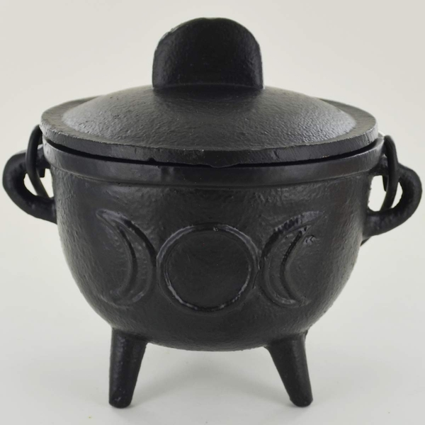 Triple Moon Cast Iron Cauldron (Medium)