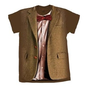 Doctor Who - 10th Doctor Stonehenge Women's Large T-Shirt - Brown