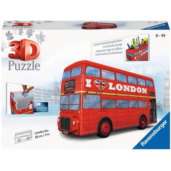 Ravensburger 3D Puzzle London Bus - 216 Pieces