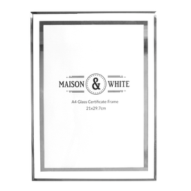 A4 Photo Certificate Mirrored Glass Frame | M&W
