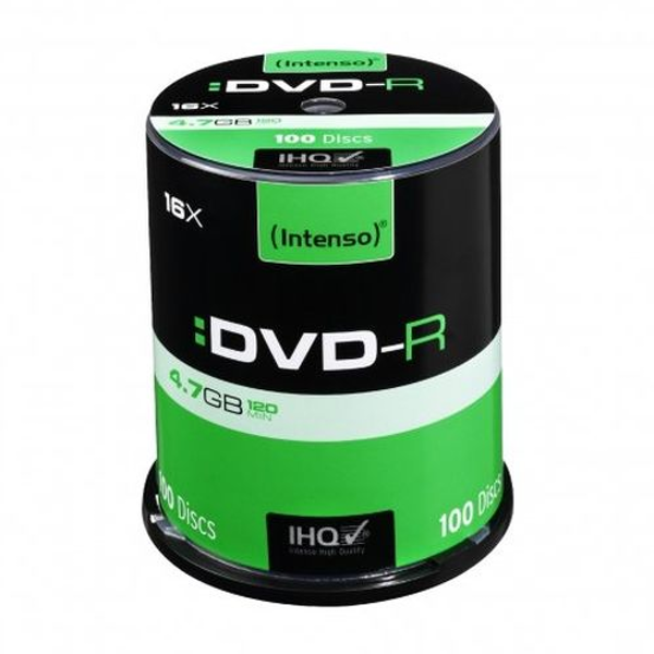 Intenso DVD-R, 4.7GB/120 Minutes, 16x Speed, Single Layer, Cake Box of 100