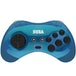 Retro-Bit Official SEGA Saturn Blue Wireless Controller 8-Button Arcade Pad for Sega Mega Drive - Image 2