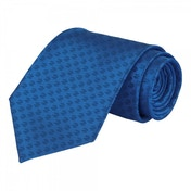 Payday 2 $2 Logo Pattern Real Blue Silk Tie