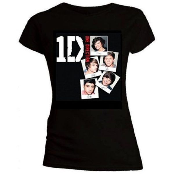 One Direction - Photo Stack Women's Small T-Shirt - Black